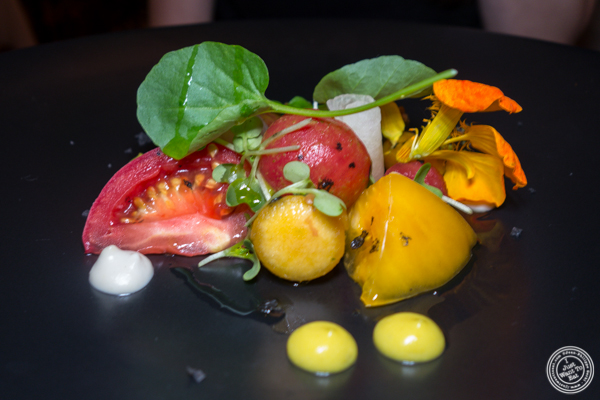 Tomato salad at Elizabeth's Gone Raw in Washington DC