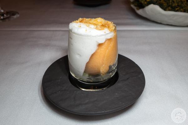 Cantaloupe apricot sorbet at Elizabeth's Gone Raw in Washington DC