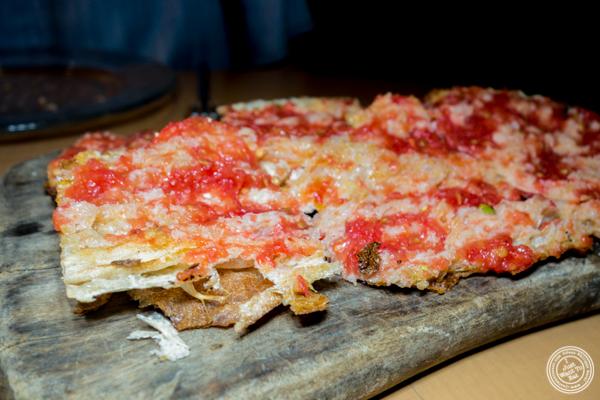 Pan de cristal con tomate at Jaleo in Washington DC