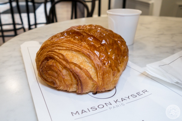 Chocolate croissant at Maison Kayser in Washington DC