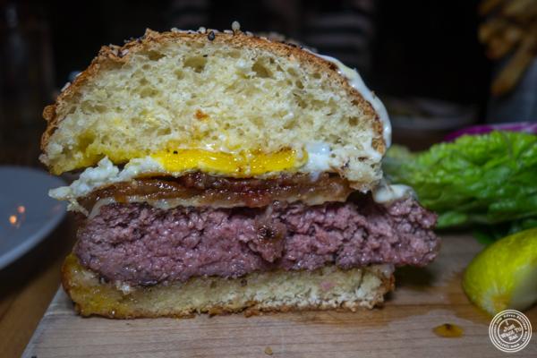 Signature burger at Saxon+Parole in NYC, NY