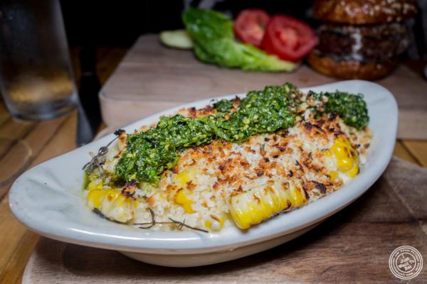 Creamy corn gratin at Saxon+Parole in NYC, NY