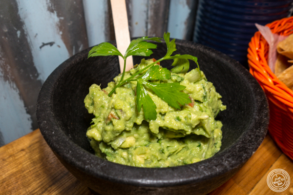 Guacamole at American Hall Beer and Arcade in NYC, NY