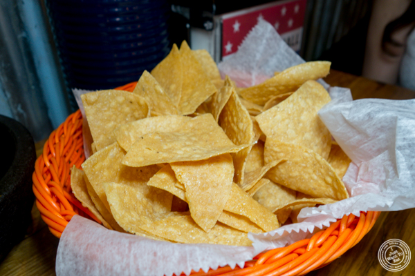 Tortilla chips at American Hall Beer and Arcade in NYC, NY