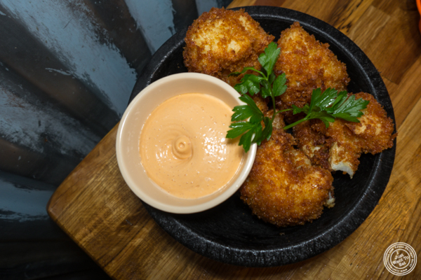 Fried cauliflower at American Hall Beer and Arcade in NYC, NY