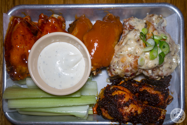 Chicken wings at American Hall Beer and Arcade in NYC, NY