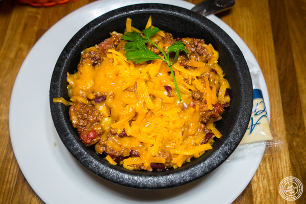 Chili at American Hall Beer and Arcade in NYC, NY