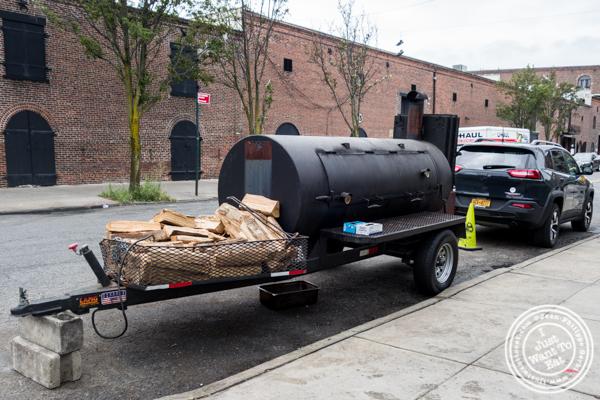 Smoker near Hometown Bar-B-Que in Brooklyn