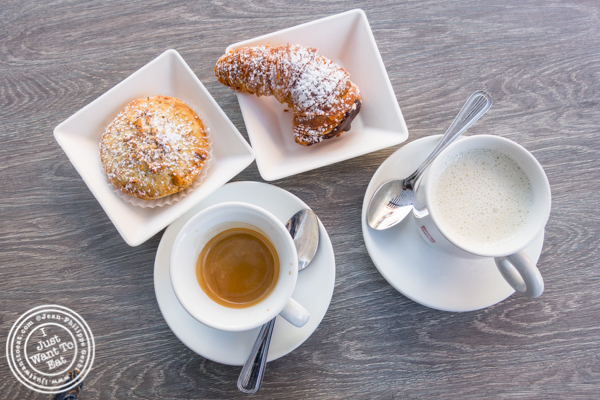 Coffee and treats at Dolce & Salato in Hoboken, NJ