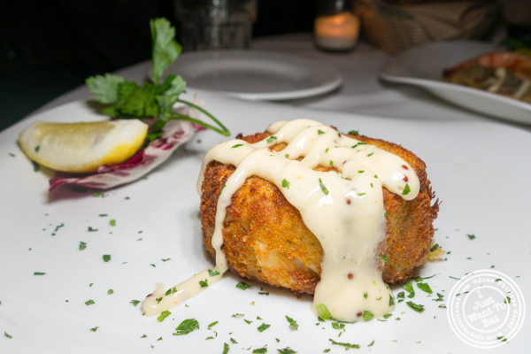 Crab cake at Empire Steakhouse in NYC, NY