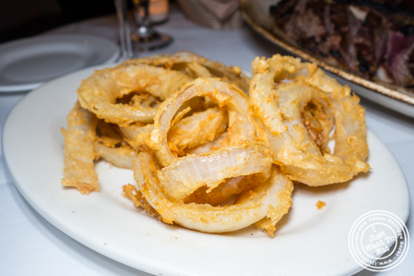 Onion rings at Empire Steakhouse in NYC, NY