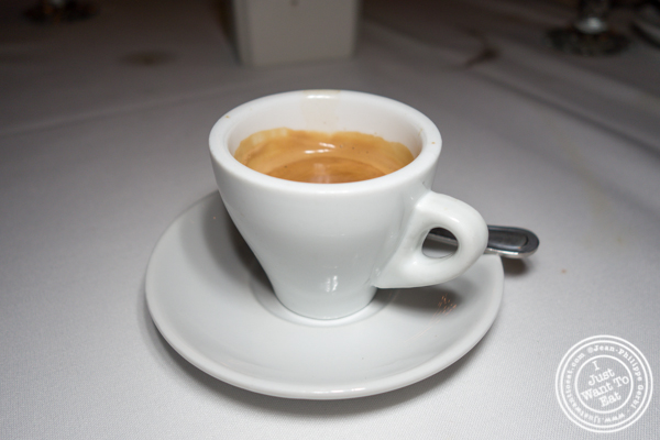 Decaf espresso at Empire Steakhouse in NYC, NY