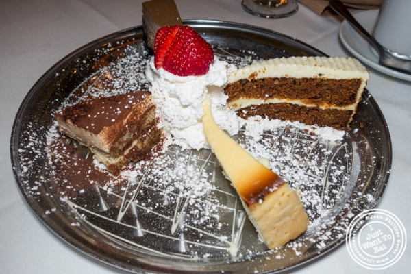 Dessert sampler at Empire Steakhouse in NYC, NY