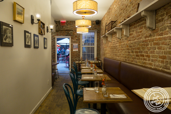 Dining room at The Freckled Moose in Astoria, Queens
