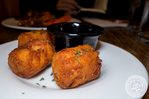 Crab tater tots at The Freckled Moose in Astoria, Queens