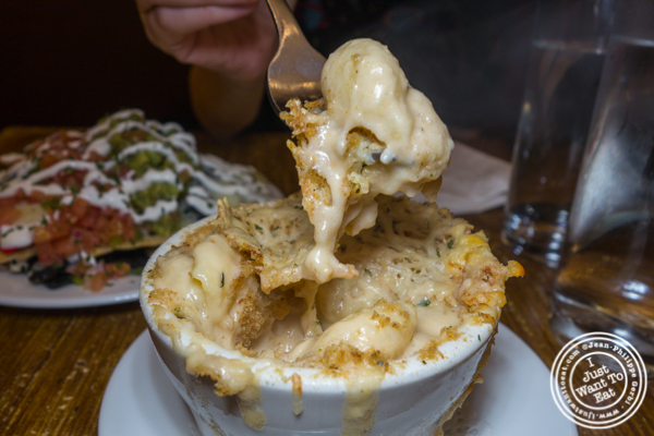 Mac and cheese at The Freckled Moose in Astoria, Queens
