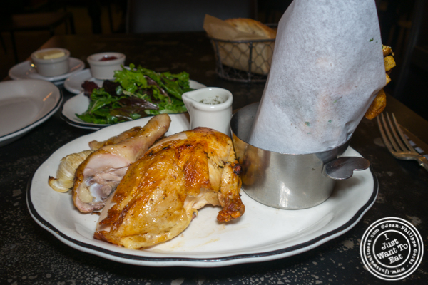 Poulet frites at Rotisserie Georgette in NYC, NY