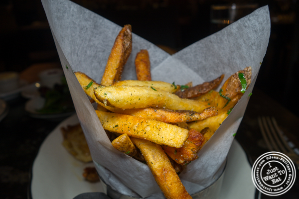 French fries at Rotisserie Georgette in NYC, NY