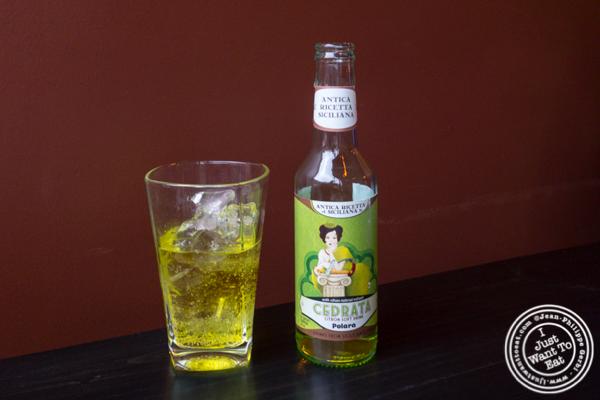 Cedrata soda at Apulia in Hoboken, NJ