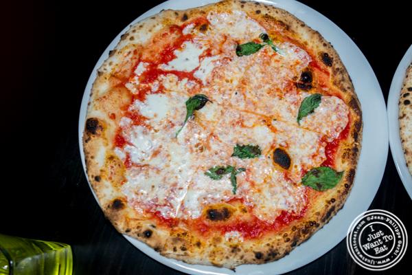 Margherita pizza at Apulia in Hoboken, NJ