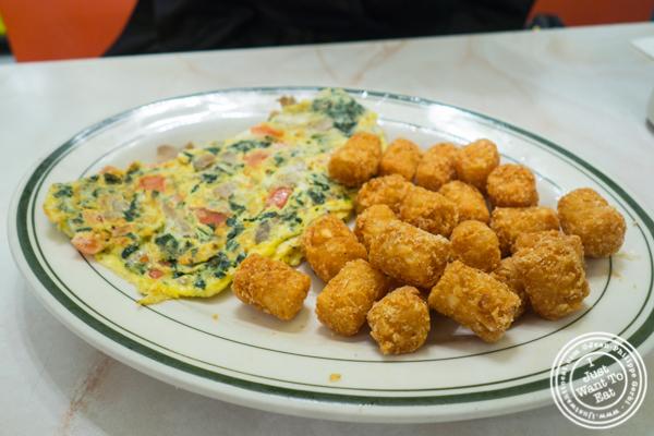 Omelet at Spa Diner in Hoboken, NJ