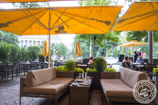 Patio at Pinea in the W Hotel in Washington DC