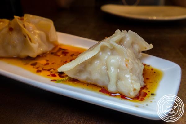 Shrimp dumplings at PF Chang's in West New York, NJ
