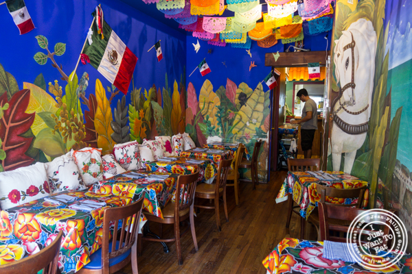 Dining room of Charritos in Hoboken, NJ