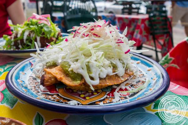 Vegetarian empanadas at Charritos in Hoboken, NJ