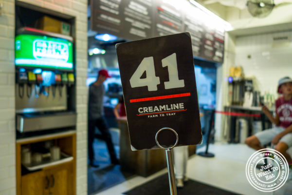 Order number at Creamline in Chelsea Market