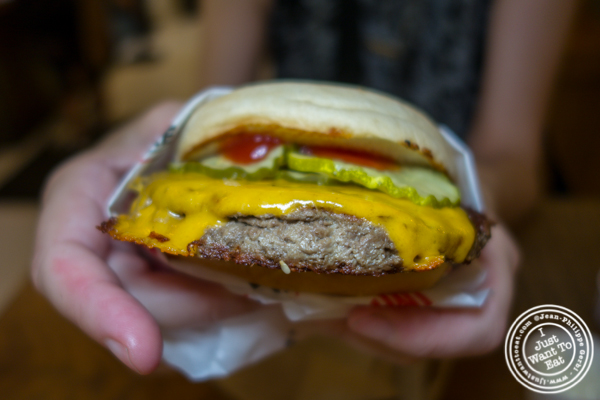 The Impossible Burger at Creamline in Chelsea Market
