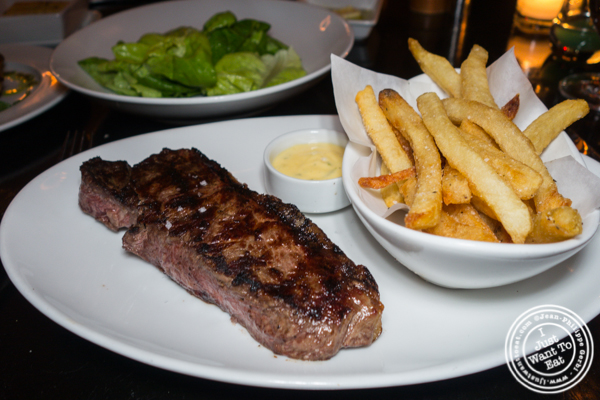 Steak frites at Marseille in Hell's Kitchen