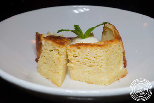 Lemon ricotta cake at Foragers Table in Chelsea
