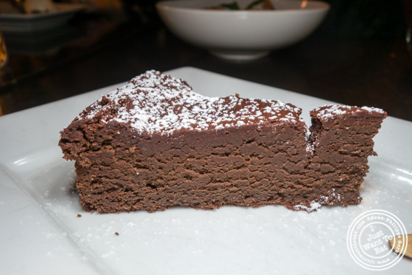 Chocolate torte at Foragers Table in Chelsea