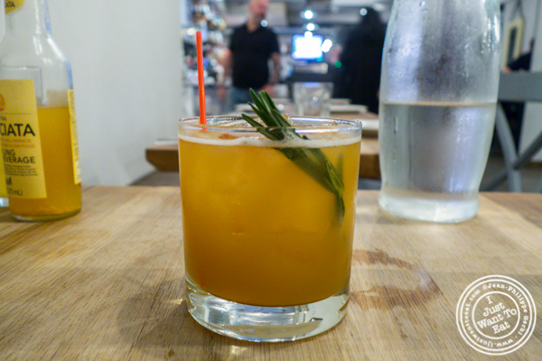 East to West cocktail at Luzzo's in Long Island City