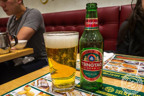 Tsingtao beer at Tim Ho Wan in Hell's Kitchen