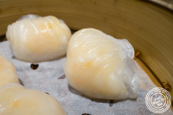 Har gow at Tim Ho Wan in Hell's Kitchen