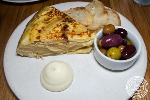 Tortilla española at Boqueria in Times Square