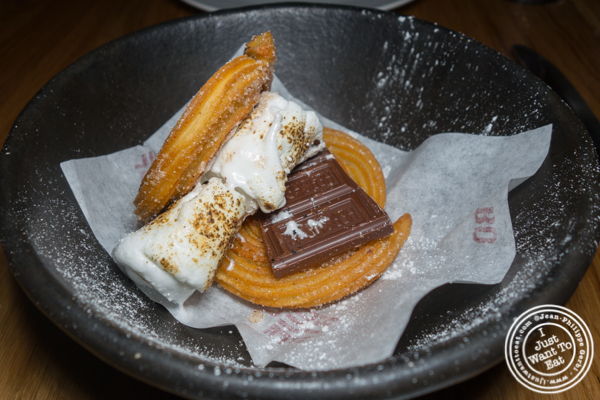 S'mores churros at Boqueria in Times Square
