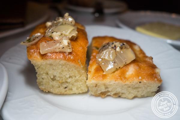 Focaccia bread at Scalini Fedeli in TriBeCa