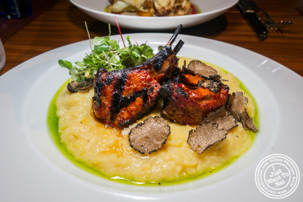 Lamb chops at L'Adresse near Bryant Park