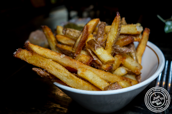 French fries at M Wells Steakhouse in Long Island City