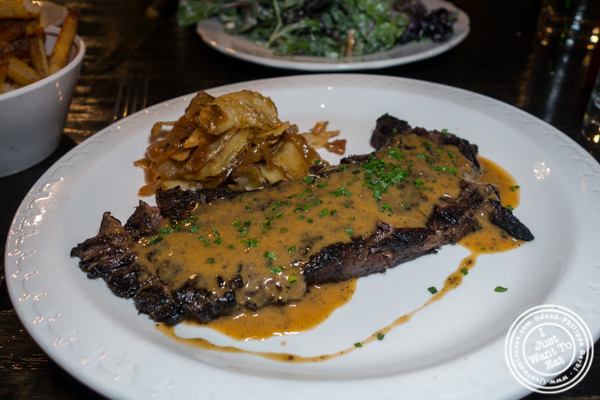 Wagyu flank steak at M Wells Steakhouse in Long Island City