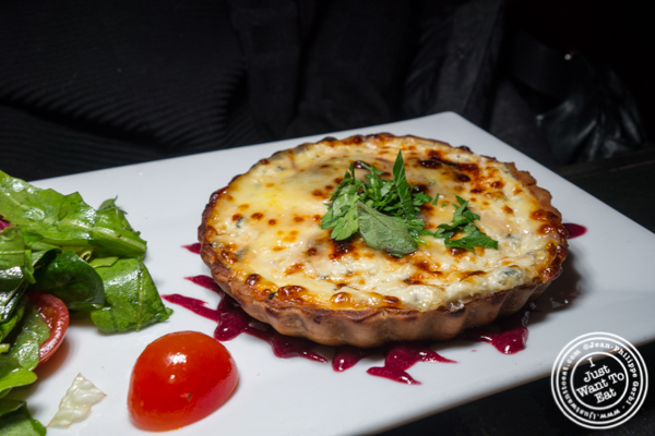 Goat cheese tart at La Sirene on the Upper West Side