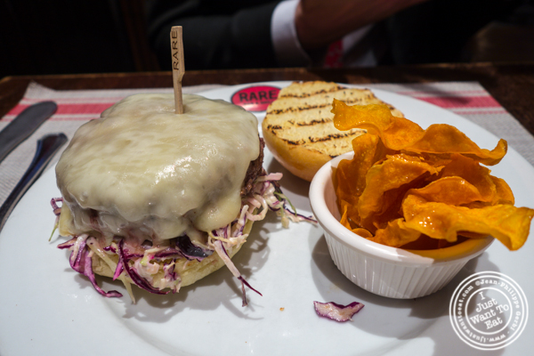Jameson black barrel burger at Rare Bar and Grill in Chelsea