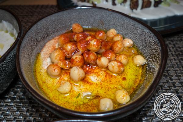 Hummus at Green Fig in the Yotl Hotel