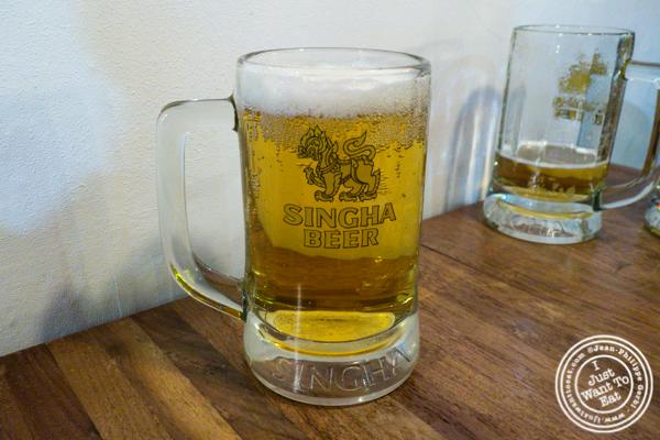 Hitejinro Hite beer at Korean Crispy Chicken in Hell's Kitchen