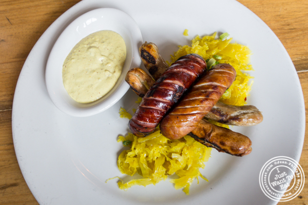 Sausage platter at Bierocracy in Long Island City