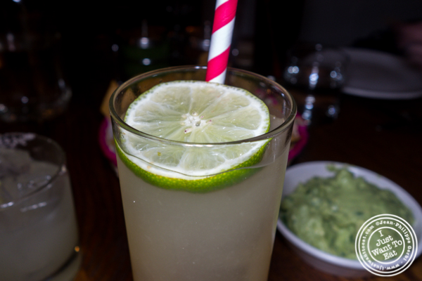 Lime soda at Gracias Madre in Los Angeles