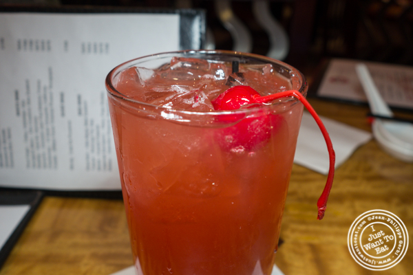Singapore sling cocktail at Bugis Street Brasserie and Bar in Times Square